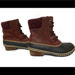 SOREL Slimpack II Lace Boots Burro Size 8
